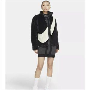 ✔️ NWT✔️ NIKE Sportswear Faux Fur Jacket